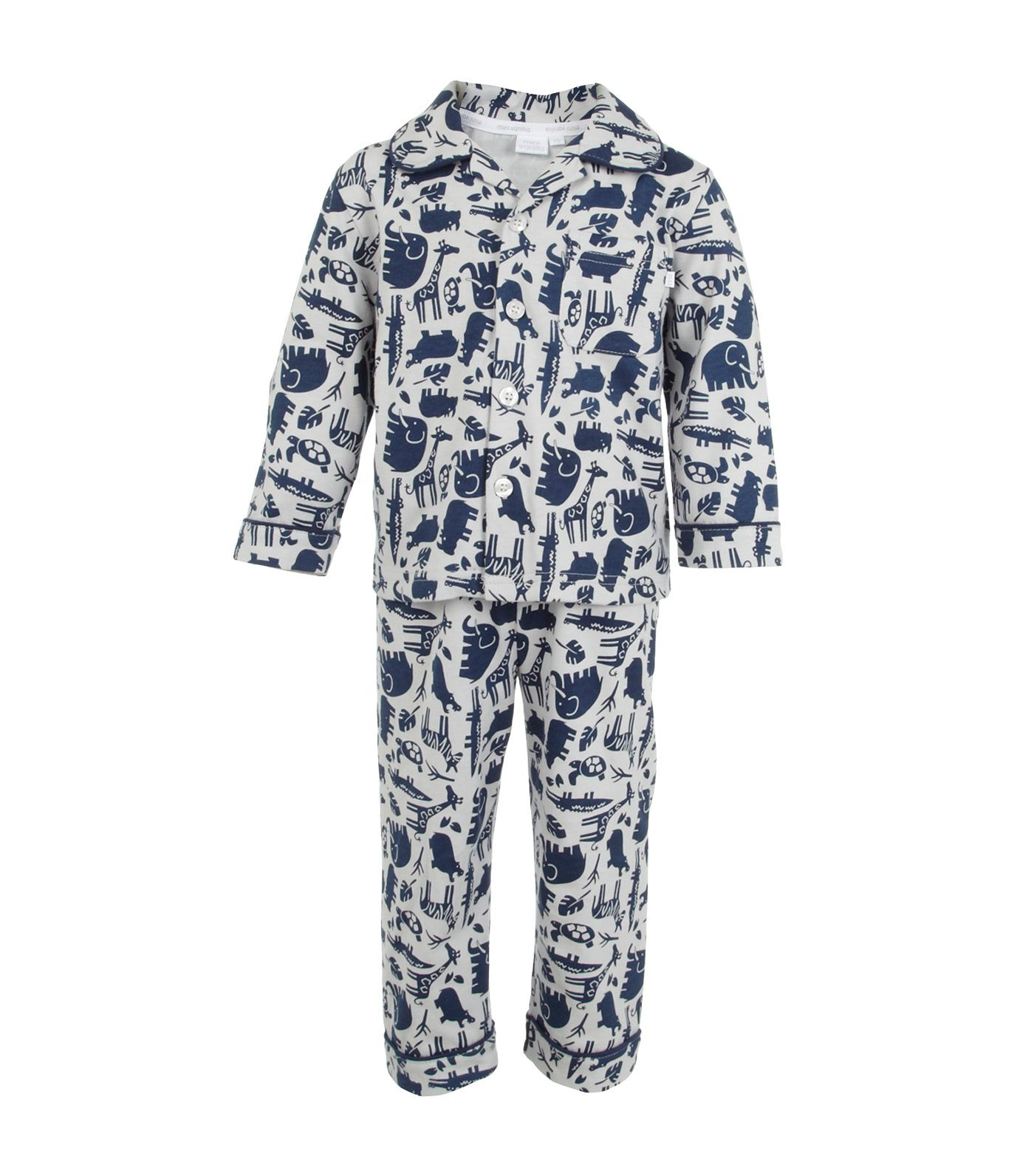 Boy`s printed traditional pjs with bag