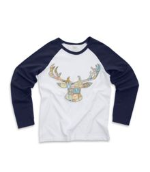 Boy`s raglan long sleeve lounge top