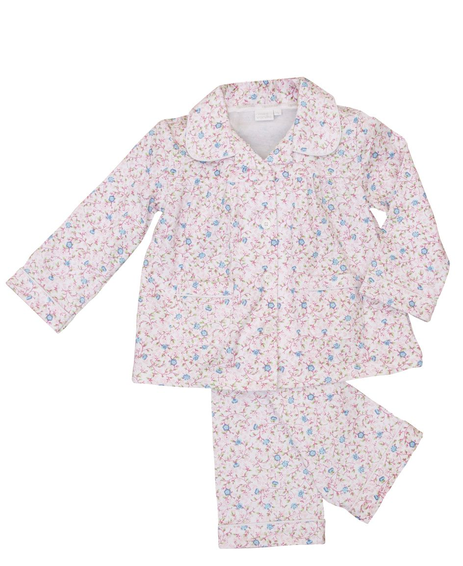 Girl`s jersey printed traditional pyjamas with ma