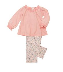 Girl`s jersey lounge pyjamas with floral embroide