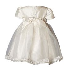 Girl`s Daisy silk short sleeve dress