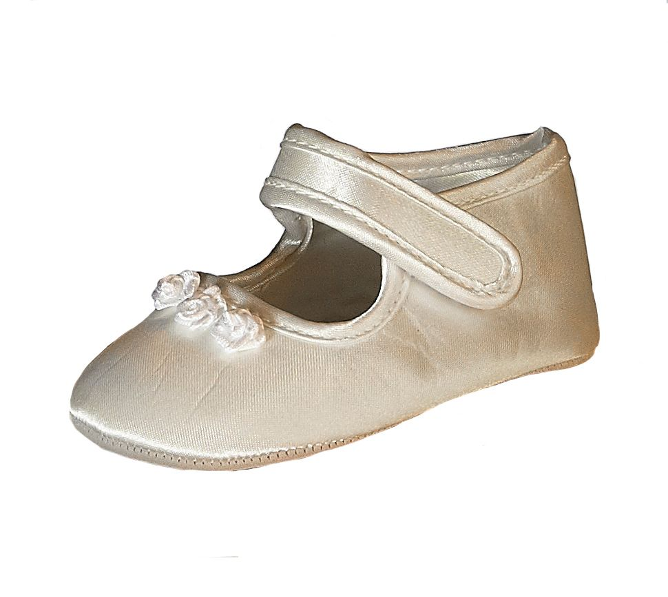 Heritage Heritage Girl`s Tianna silk shoes, Ivory