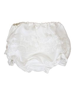 Girl`s Xena silk frilly knickers