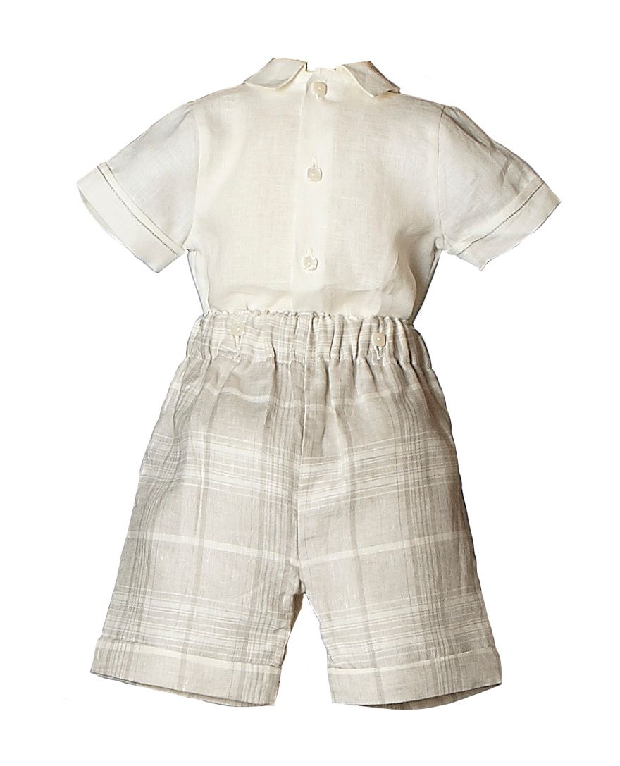 Boy`s Dawson linen shirt, short and cap