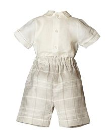 Boys Dawson Linen Shirt, Short And Cap