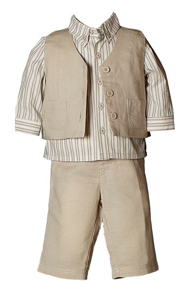 Heritage Boy`s shirt, trousers and waistcoat set