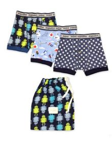 Boys 3 pack  printed boys boxers shorts with matc