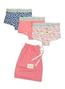 Girls 3 pack of girls printed boxer style knicker