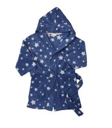 Mini Vanilla Boys microfleece hooded robe