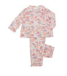 Girls jersey traditional pyjamas