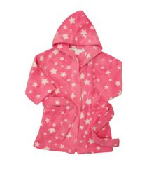 Girls microfleece hooded robe