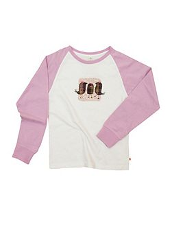 Girls soft jersey sleeve lounge top