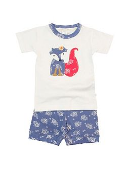 Mini Vanilla Girls shortie skinny fit pyjamas