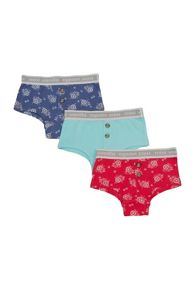 Girls 3 pack of boxer style knickers