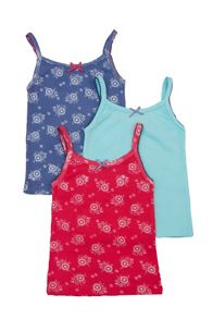 Girls 3 pack of vests