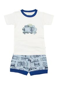 Mini Vanilla Boys skinny fit shortie pyjamas