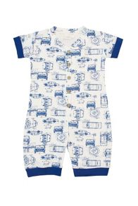 Mini Vanilla Boys jersey shortie onesie