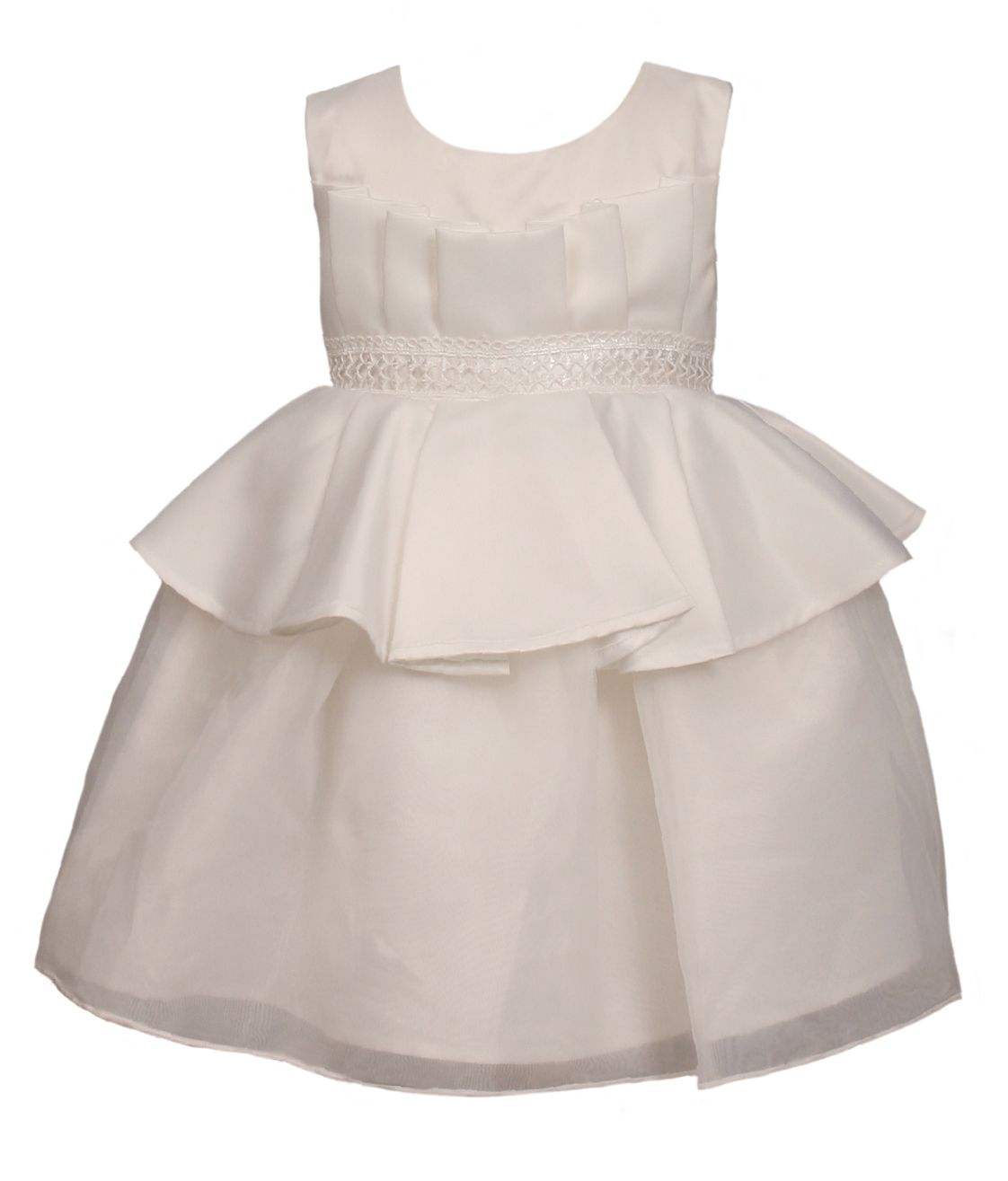 Heritage Heritage Girls sleeveless special occasion dress, White