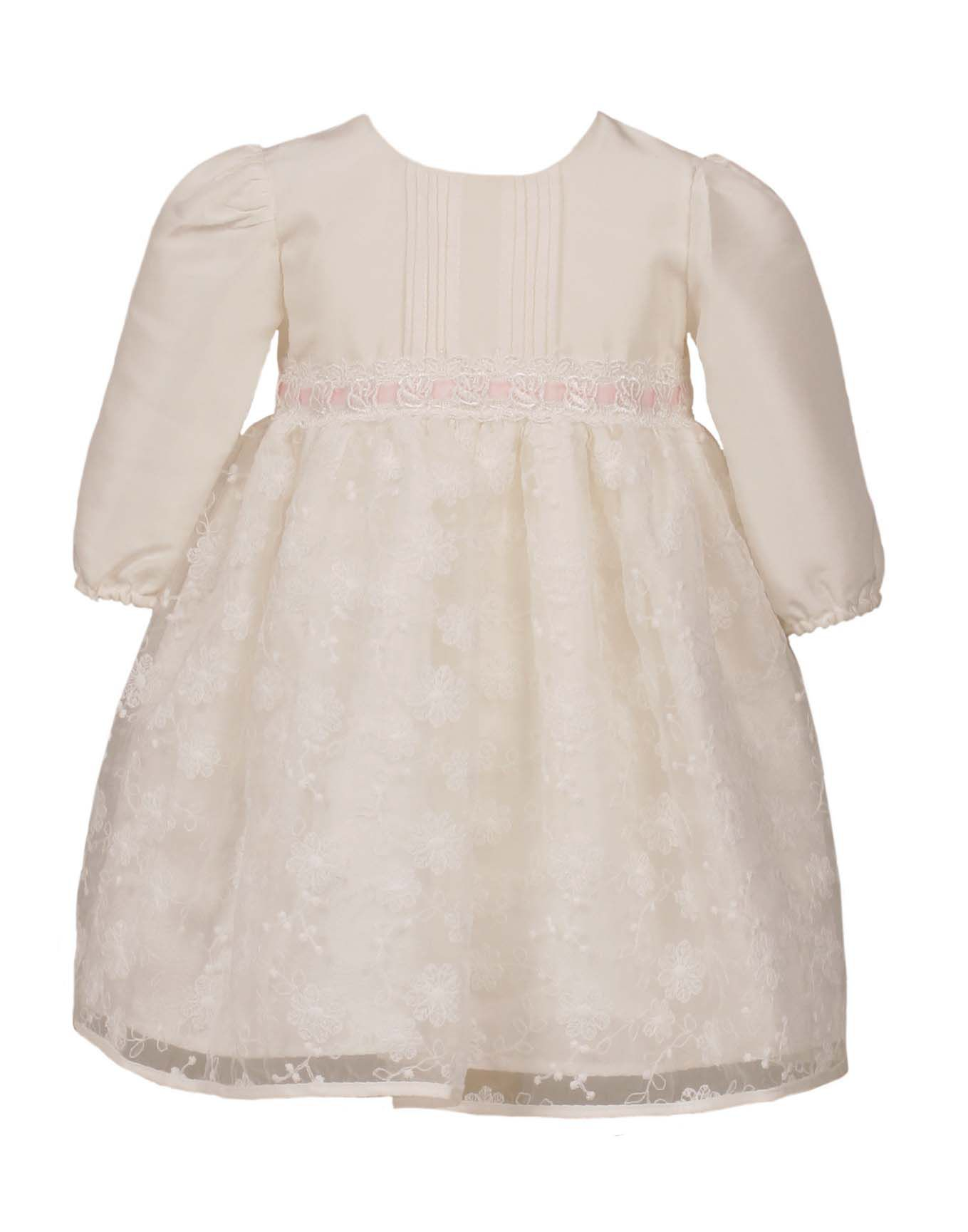 Heritage Heritage Girls Long Sleeve Special Occasion Dress, White