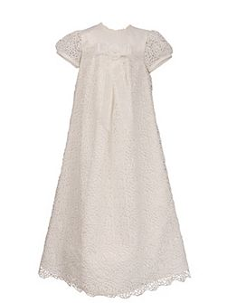 Girls long length christening robe