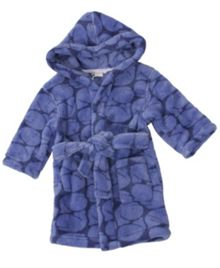 Boy`s hooded whale print robe