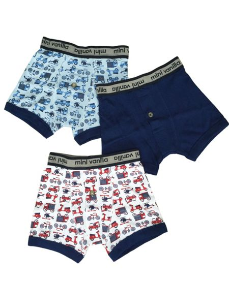 Mini Vanilla Boys 3 Pack of Boxed Boxers