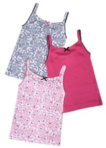 Mini Vanilla Girls 3 Pack of Vest