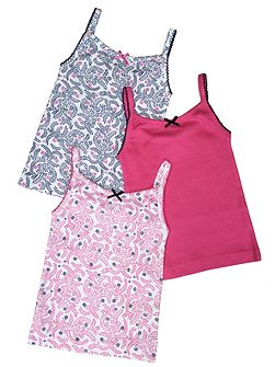 Girls 3 Pack of Vest