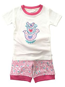 Girls `Skinny` Fit Shortie Pyjamas