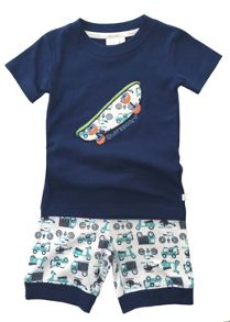 Mini Vanilla Boys `skinny` Fit Shortie Pyjamas