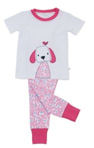 Mini Vanilla Girls `Skinny` Fit Short Sleeve Pyjamas