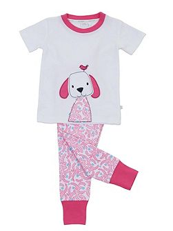 Girls `Skinny` Fit Short Sleeve Pyjamas