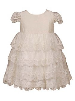 Girls Carmel Lace Dress