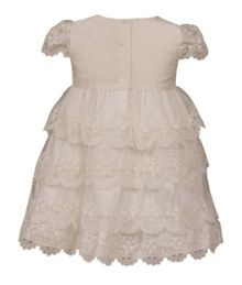Heritage Charlotte - Girls Lace Silk Dress