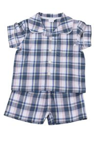 Mini Vanilla Boys Traditional Shortie Pyjamas