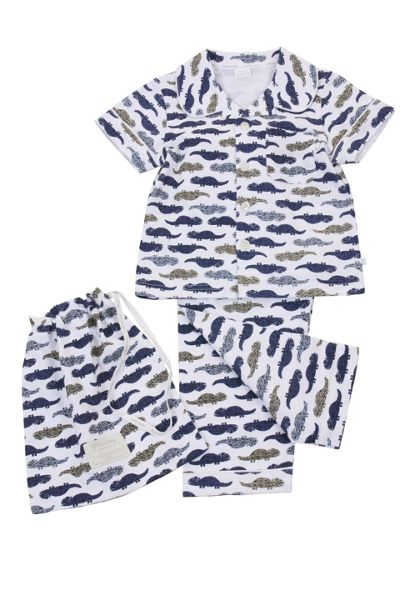 Mini Vanilla Boys Jersey Traditional Pyjamas
