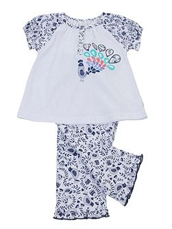Girls Short Sleeve Lounge Pyjamas