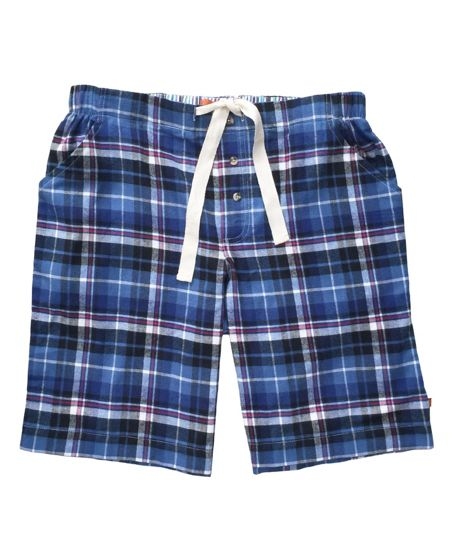 Mini Vanilla Boys Check Lounge Shorts