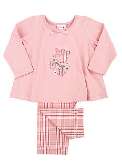 Girls Floral Applique Pyjamas