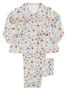 Mini Vanilla Girls Jersey Traditional Pyjamas
