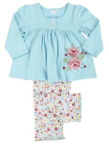 Mini Vanilla Girls Floral Lounge Pyjamas