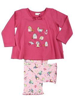 Girls Birds Lounge Pyjamas