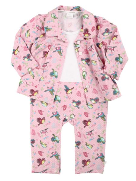 Mini Vanilla Baby Girls AIO Mock Pyjamas