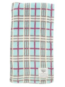 Mini Vanilla Super Soft Printed Check Blanket