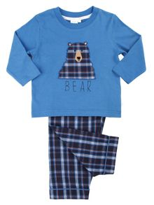 Mini Vanilla Boys Bear Applique Pyjamas