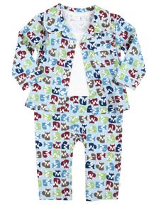 Mini Vanilla Baby Boys Mock Jersey Pyjamas