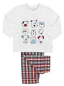 Boys PJ with DOG embroideries