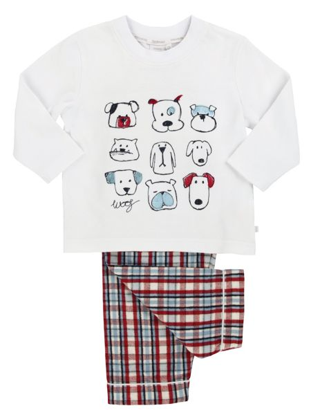 Mini Vanilla Boys PJ with DOG embroideries