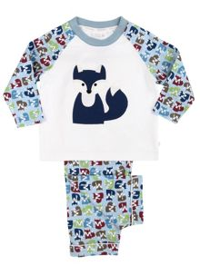 Mini Vanilla Boys Fox Print Pyjamas