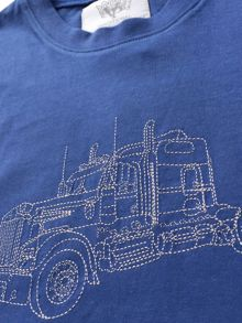 Mini Vanilla Boys navy T-shirt